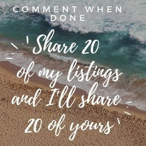 Come share 20! Im sharing back now! Share game!
